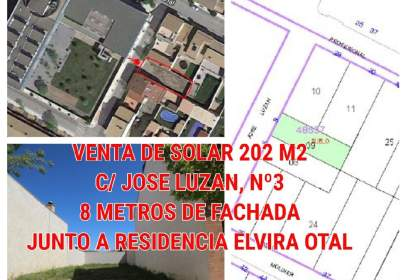 Terreny a calle Luzan, Jose, nº 3